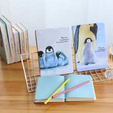 Korean Notebook Hardcover Cute Penguin Kawaii Diary Color Note Book Paper Kawaii School Supplies Stationery Store Free Shipping