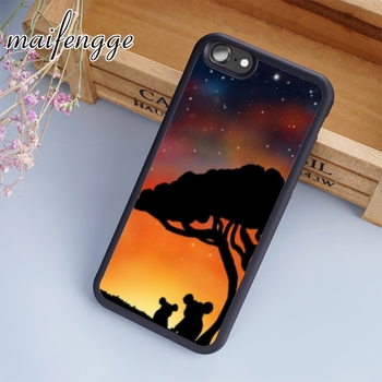 maifengge Koala bear cute australian sunt stars pretty silhouette phone Case For iPhone 11 12 Pro X XR XS MAX 5 6 7 8 Plus image