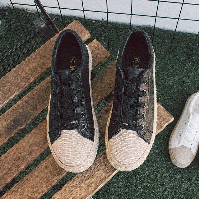 Free shipping 2017 spring new fashion women shoes casual platform PU women casual shoes
