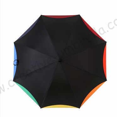 Feuille de Lotus arc-en-ciel en bois massif umbrellas100 % crème solaire formosa 210 T pongé double couche longue poignée tournent rose fleur parasol