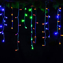 Connector 5M x 0.4M 0.5M 0.6M led curtain icicle string lights led fairy lights Christmas lamps Icicle Lights Xmas Wedding Party цена