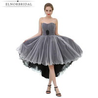 Fashion High Low Cocktail Dresses 2019 Sweetheart Homecoming Party Dress Vestido De Festa Curto De Luxo Pleat Tulle Prom Gowns