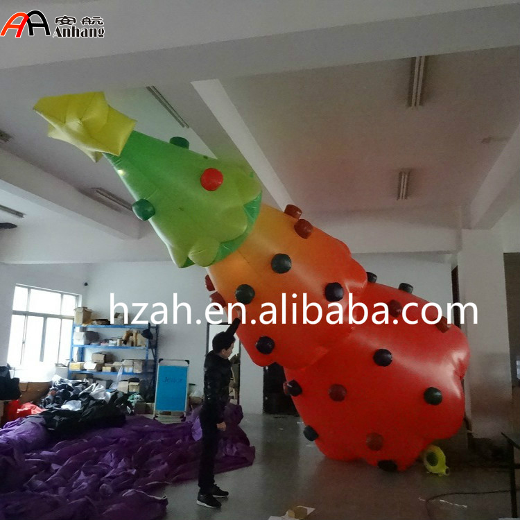 Giant Inflatable Printed Christmas Tree for Festival Decoration 2017 vioslite 2 1m inflatable christmas tree with bag in high quality for festival decoration