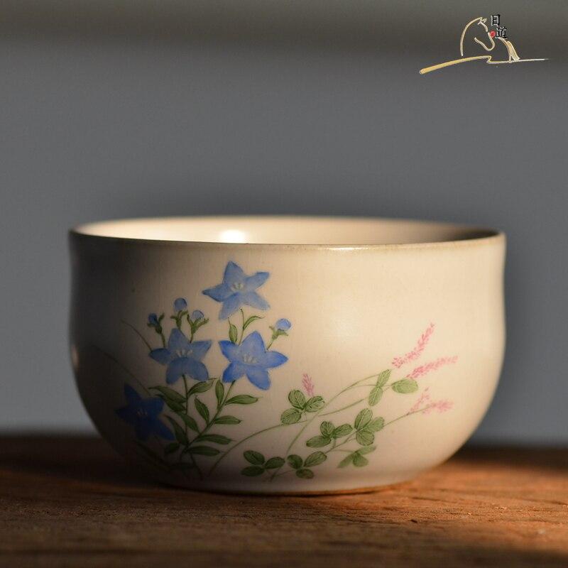 Thé bol japonais thé accessoires peint à la main thé cérémonie poterie matcha bol fait à la main rétro en céramique vert thé chawan ensemble
