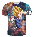 New Fashion Women Men Hipster 3D t shirt Galaxy tshirts Anime Dragon Ball Z Vegeta t shirts DBZ Tees Summer Casual tee shirts