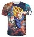 Nova moda mulheres homens Hipster 3D camiseta galáxia tshirts Anime Dragon Ball Z Vegeta camisetas DBZ camisetas verão Casual camisetas