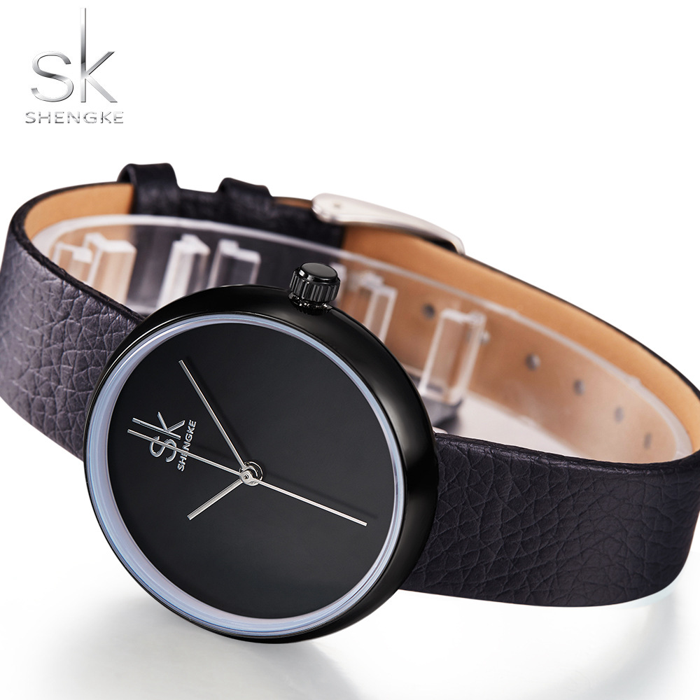 SK Leather Clock Watches for Women 3
