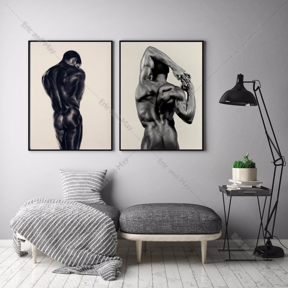 online get cheap sexy men posters aliexpress com alibaba group bodybuilding sexy nude man canvas art print painting poster wall pictures for living room home decoration