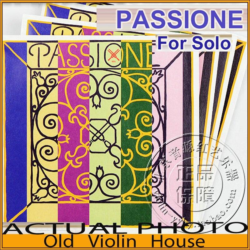 Original Pirastro Passione Solo Violin Strings Full Set 4 4 Silver E Ball End 219081 made