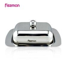 Fissman Прочный из нержавеющей стали для масла блюдо Box Контейнер сыр сервер хранения лоток для хранения с крышкой кухонная посуда