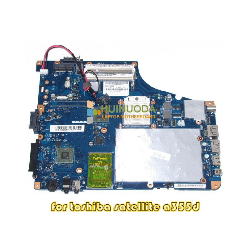 все цены на NOKOTION K000069570 KTKAE LA-4581P For toshiba A350 A355D laptop motherboard DDR2 Free CPU онлайн