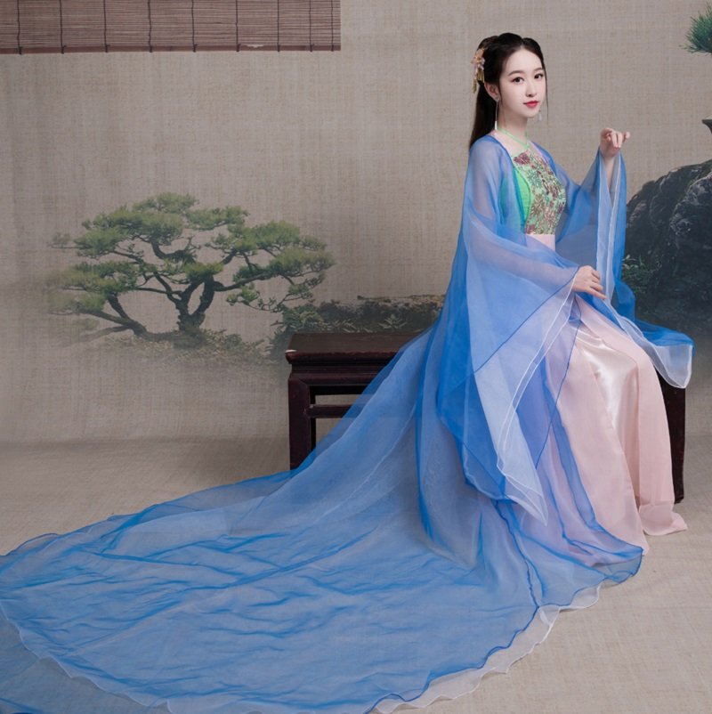 Ancient Dress Girl Elegant Chinese Style Princess cosplay Fairy Royal Palace Hanfu Long Tail costume TV Movie Perform Clothes