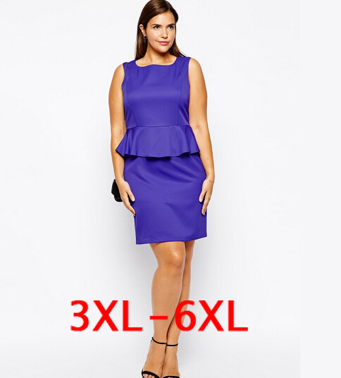 f4f94b0e228 plus size xxxl 4xl 5xl 6xl elegant bandage dress for fat women evening party  bodycon sexy Flounced dresses sleeveless vestidos