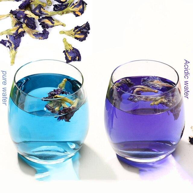 Имитация кухонной игрушки Таиланд голубая бабочка 50 г 100 г Clitoria Terna чай тайский горох бабочки чай витамин а игрушка