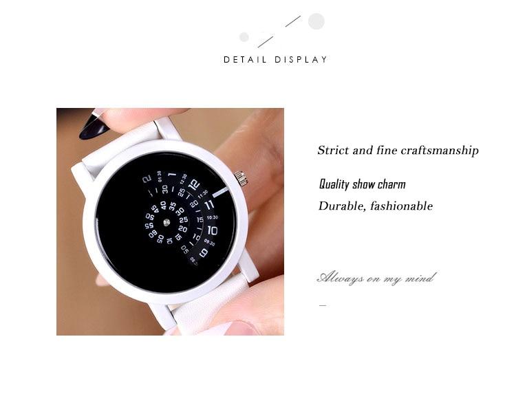 2017 BGG creative design wristwatch camera concept brief simple special digital discs hands fashion quartz watches for men women 22