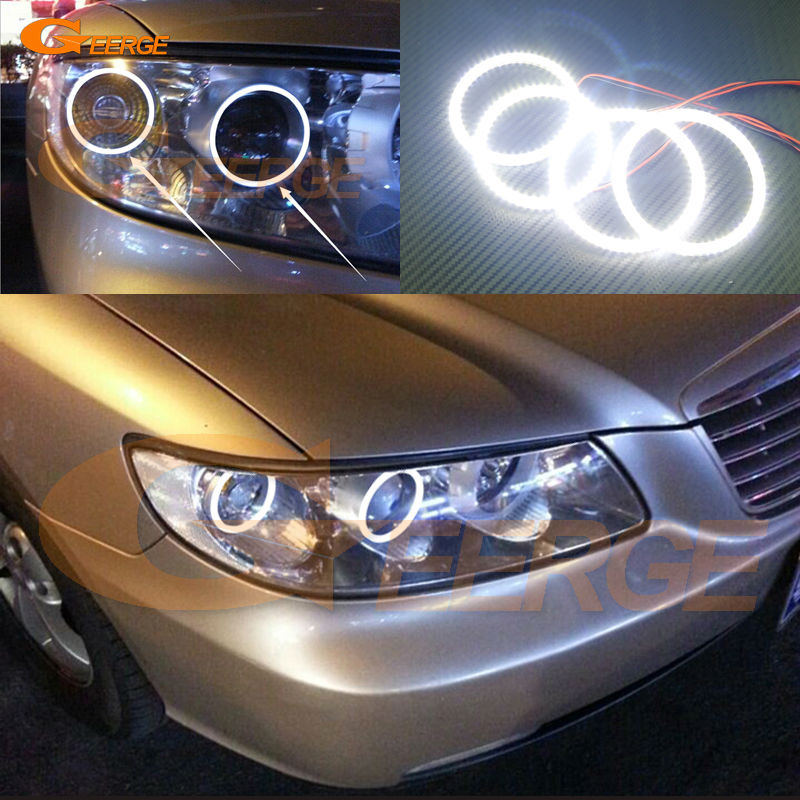 For Hyundai azera 2006 2007 2008 2009 2010 Excellent angel eyes Ultra bright illumination smd led Angel Eyes Halo Ring kit