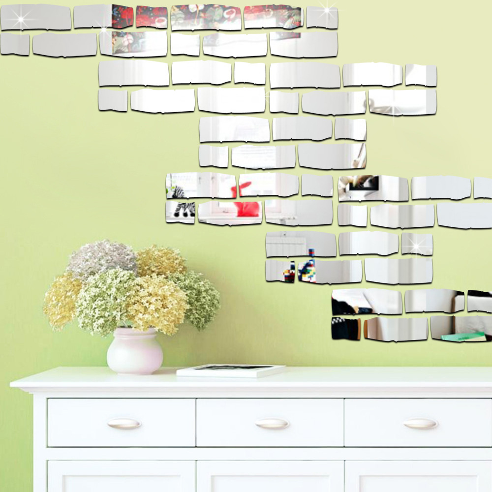 Vinilos Decorativos Para Paredes Us 10 3 Brick Mirror Wall Stickers Decoracion Habitacion Acrylic Vinilos Decorativos Para Paredes Infantil Bedroom Adesivos De Parede In Wall