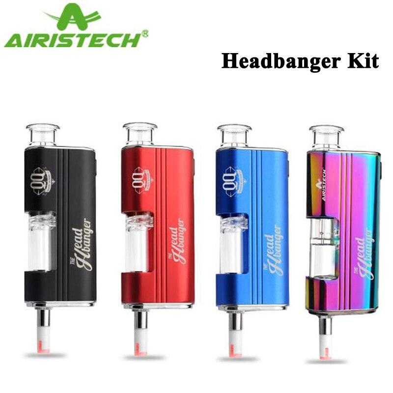 Original Airistech Headbanger kit Vaporizer Qcell Quartz Coil Electronic Cigarette Vape For Dip Dab Wax Concentrate