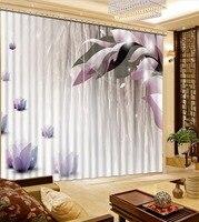 3D Foto Da Cortina Personalizar Tamanho Sonhador  Lotus Cortina Quarto Escritório Sala de estar Cortinas Quebra Do Chuveiro Do Banheiro