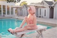 Baby Girls Clothes Pink Tutu Belt Swimwear Hat 2pcs Set Kids Children Swimming Suit Spa Bathing