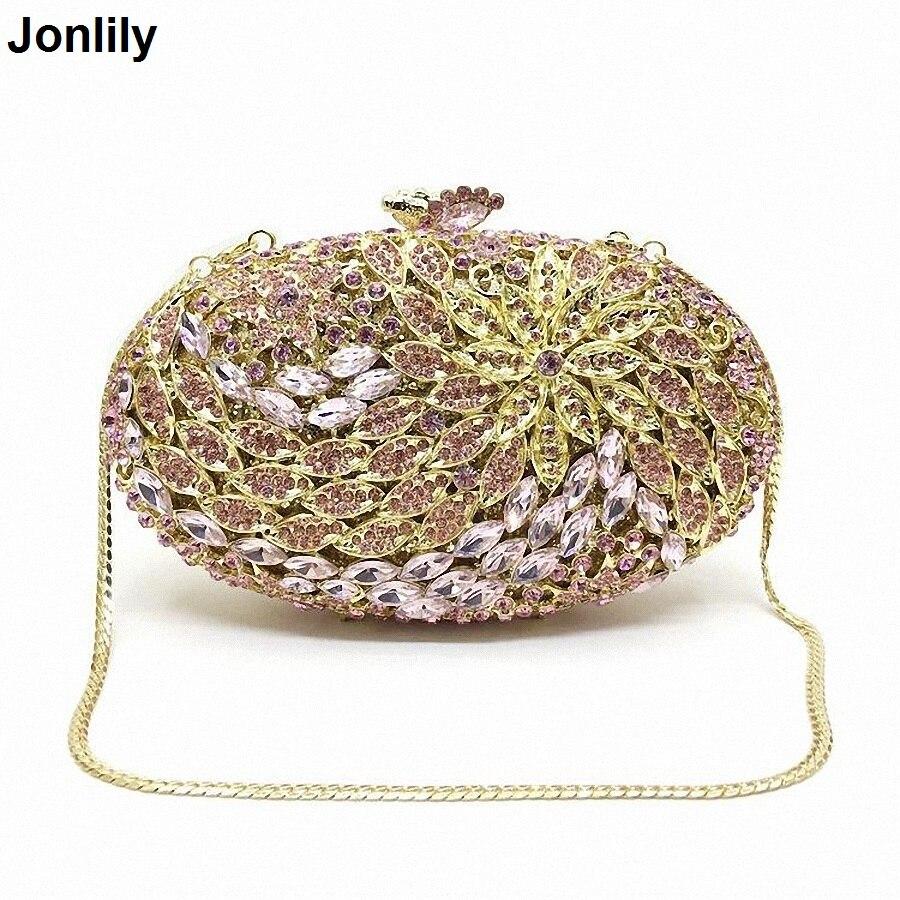 Jeweled Embrayage De Mariage De Mariée Sac À Main De Luxe Diamant de Soirée Sacs Lady Jour D'embrayage Femmes Cristal Partie Sacs LI-1568