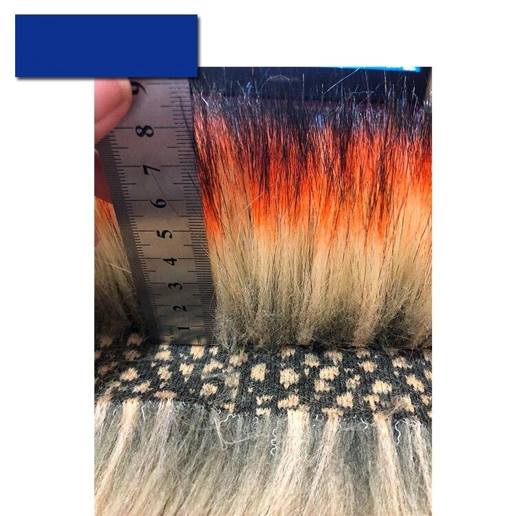 Imitation Raccoon Fur Artificial Fur Imitation Fox Fur Dyed Tip High-grade Fur Collar Plush Fabric