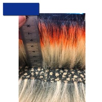Imitation raccoon fur artificial fur imitation fox fur dyed tip high grade fur collar plush fabric