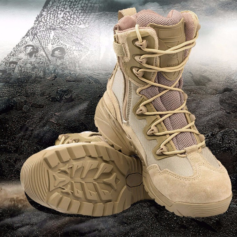 Waterproof Outdoor Army Tactical Men Military Boots Top Quality Delta Desert Combat Boots Shoes Breathable Climbing Sneaker