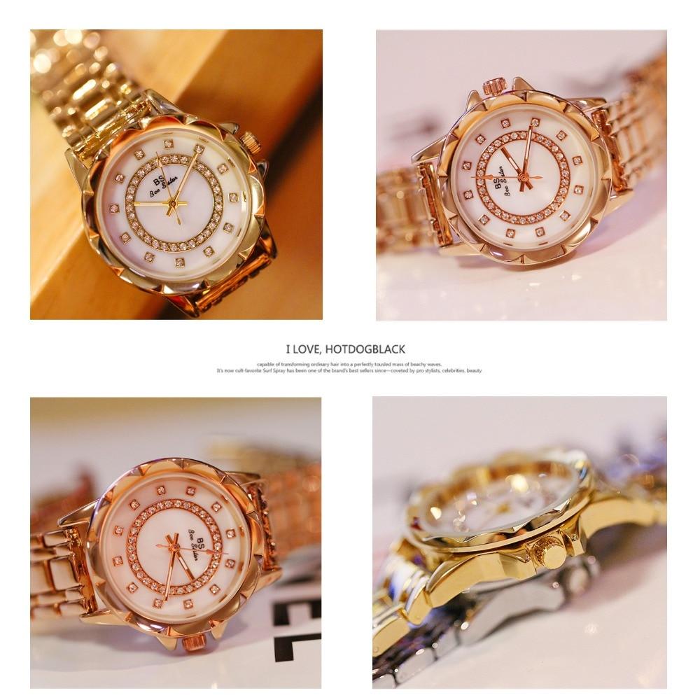 Diamond Women Luxury Brand Watch 2019 Rhinestone Elegant Ladies Watches Gold Clock Wrist Watches For Women relogio feminino 2020 6