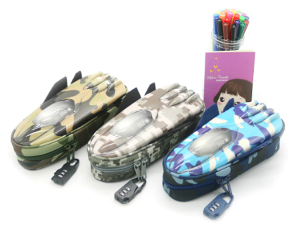 Pencil Case vehicle pen pouch bag with combination lock boys plane zipper camouflage military large Cool school Pencil box pencil case vehicle pen pouch bag with combination lock boys double zipper camouflage canvas large school pencil box military