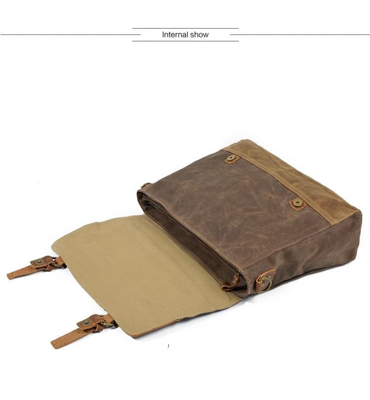 """HTB1mknQSAvoK1RjSZFwq6AiCFXa9 M275 Mens Messenger Bag Waterproof Canvas Leather Men Vintage Handbags Large Satchel Shoulder Bags 14"""" Computer Laptop Briefcase"""