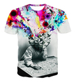 Summer style Fashion Thinker Printing Abstract t-shirt Unisex Women/Men Casual 3d t shirt  hip hop harajuku tee shirt M-3XL