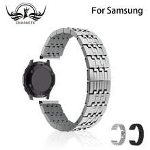 22mm for Gear S3 Classic / Frontier R760 R770 Stainless Steel Watchband for Samsung Galaxy Watch 46mm Band Wrist Strap Bracelet цена