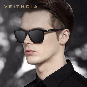 VEITHDIA Brand Unisex Retro Aluminum+TR90 Sunglasses Polarized Lens Vintage Eyewear Accessories Sun Glasses For Men/Women 6108 8