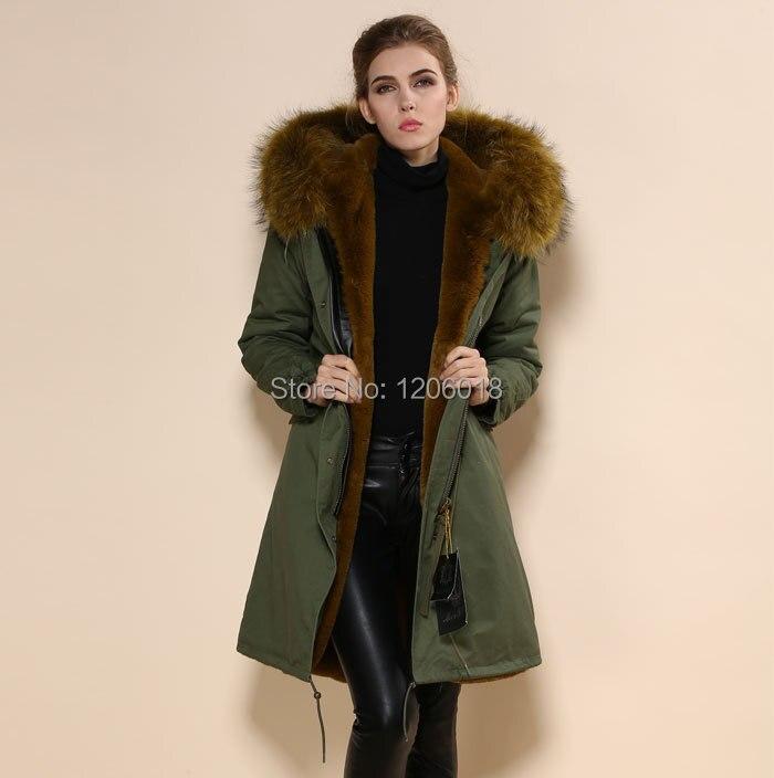 2017 New Fashion Fur Collar Hooded Parkas Winter Jackets,Army Green Large Yellow Collar Long Style Men Coat Parka Women Fur Coat