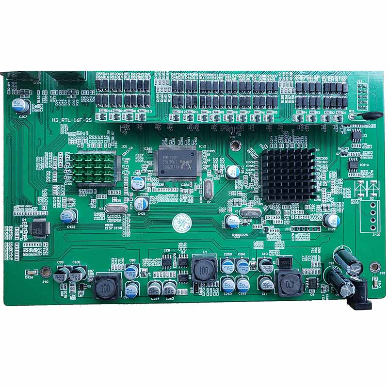 Image 4 - Обратное PoE Питание переключатель 16x10 M/100 M PoE и 4SFP Порты и разъёмы Gigabit Ethernet коммутатор материнская плата (PCB)-in Сетевые коммутаторы from Компьютер и офис