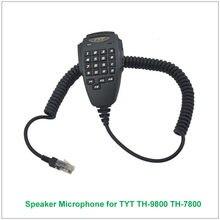 Original tyt 6 pinos dtmf handheld alto-falante microfone para tyt TH-9800 TH-7800 th9800 th7800 amador transceptor móvel