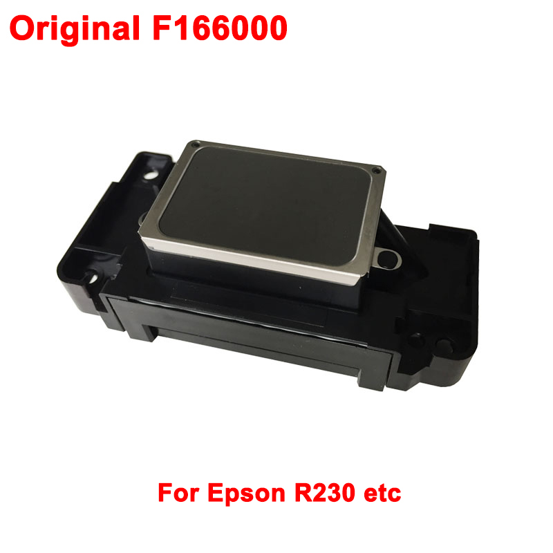 Original F166000 Inkjet Print head Printhead For Epson R230 R340 R350 R310 R320 R220 R210 D700 D750 D800 G730 printer genuine original printhead print head for wp4515 wp4520 px b750f wp4533 wp4590 wp4530 inkjet printer print head