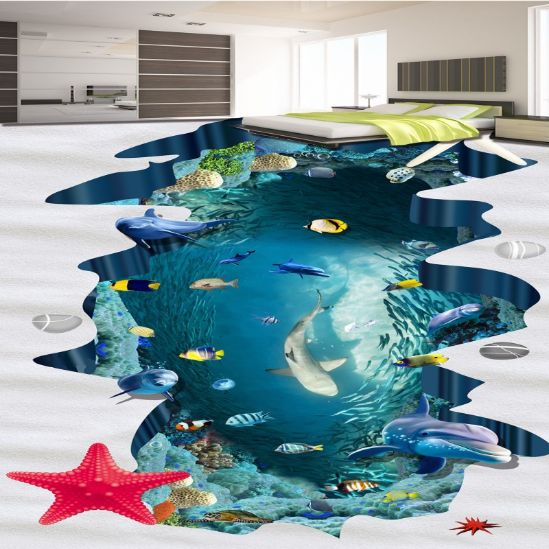 Free Shipping River Water Stone Stream 3D Living Room Bathroom Art self-adhesive wear Floor Painting wallpaper mural free shipping flowing water making money streams falls river 3d floor painting bedroom living room bathroom wallpaper mural