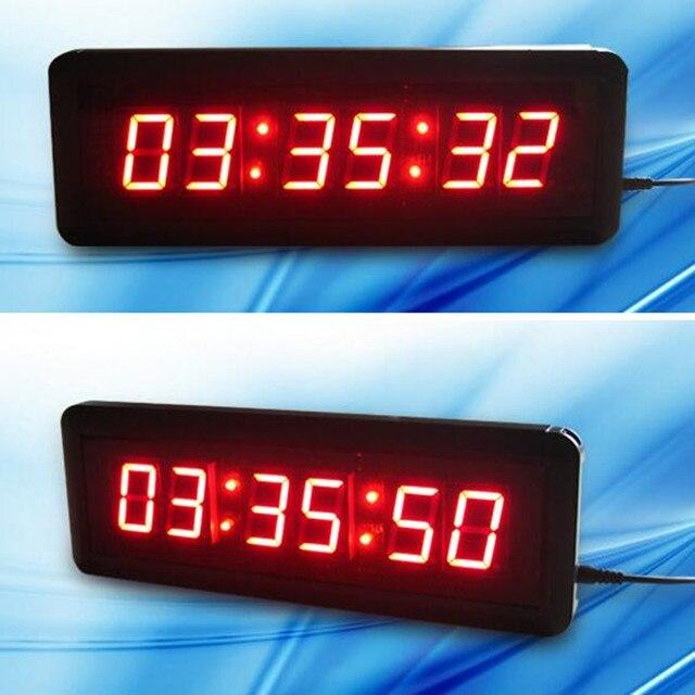 3c14a94a4e06 Gran LED Reloj de pared taller Oficina aula decoración cuenta regresiva  contar deporte tiempo para CrossFit