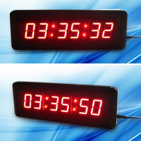 Large LED Wall Clock Workshop Office Classroom Home Decor Countdown Count Up Sport Timing For CrossFit Fitness Training RED