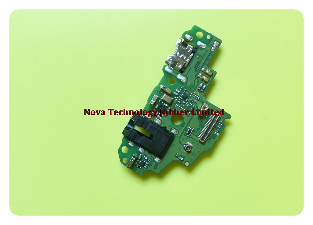 Novaphopat For Huawei P Smart / Enjoy 7s Charger Port USB Charging Connector Connect Flex Cable Microphone Mic Replacement+track