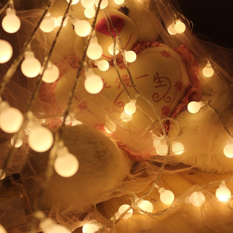 Luminaria Batterie 20 LED Cerise Balls Guirlande lumineuse Guirlandes - Éclairage festif - Photo 2
