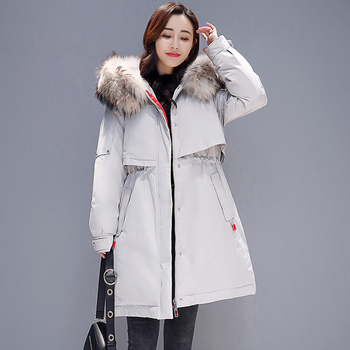 2020 winter new style women's fashion, slim down, cotton wear, long Korean version, outfit  padded jacket and  clothes tide.