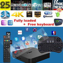 T95N Mini MX Plus MX+ Amlogic S905 quad-core 1G 8G Android5.1 TV BOX KODI XBMC 16.0 Set top box Media Player Wireless Keyboard