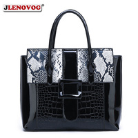 Women's Luxury Alligator Patent Leather Handbag Luxury Crocodile Women Tote Red Black Purple Snakeskin New Designer Shoulder Bag
