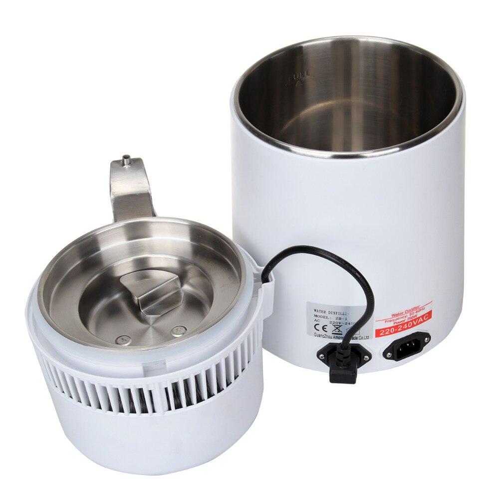 (Navire de l'ue) 4L eau Pure distillateur filtre Machine purificateur Filtration hôpital maison bureau cuisine Wasser Destillie - 5