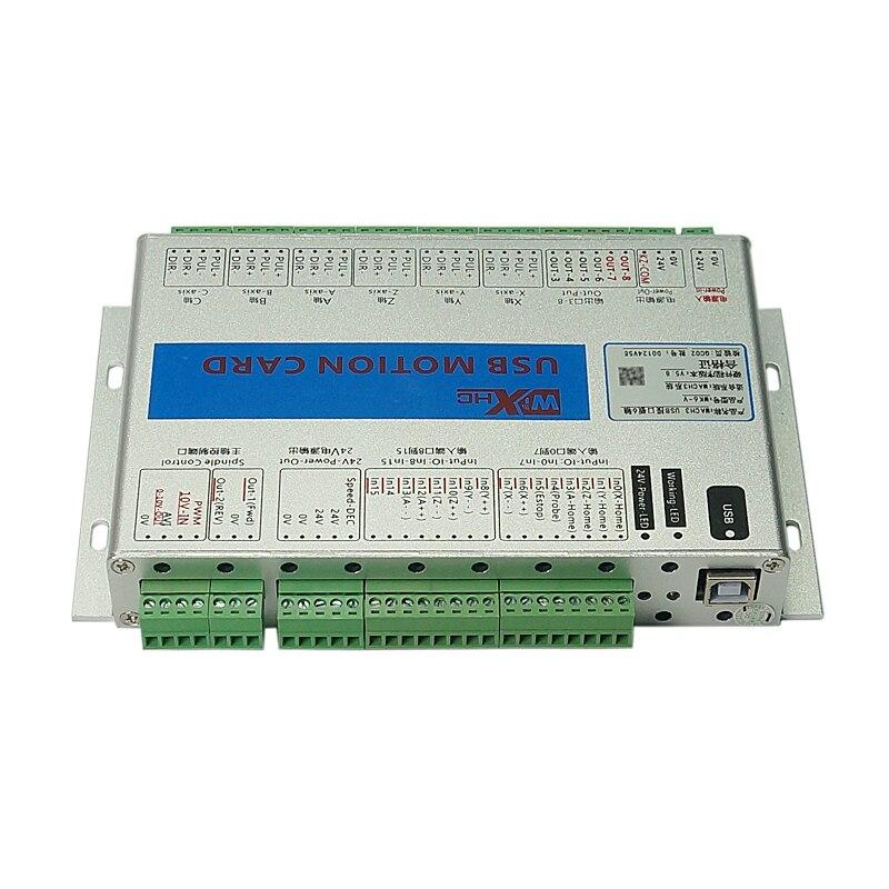 6 as Mach3 Motion control card USB Draadloze handwiel voor diy CNC Router Freesmachine - 5