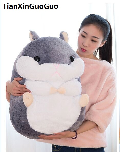 stuffed fillings toy Large 60cm gray hamster plush toy lovely cartoon hamster soft doll hugging pillow gift s0663 cute hamster plush backpack cartoon stuffed plush hamster toy girls school bag multifunction kids children toy birthday gift