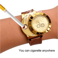 New Military USB Lighter Watch Men S Casual Quartz Wristwatches With Windproof Flameless Cigarette Cigar Lighter